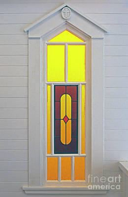 Photograph - Church Stained Glass Window by Jim Corwin