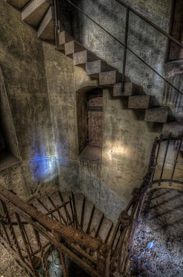 Photograph - Church Stairs Above by Nathan Wright