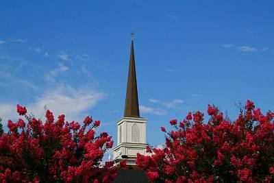 Photograph - Church Steeple by Kathryn Meyer