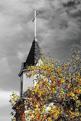 Photograph - Church Steeple by MaryAnn Janzen