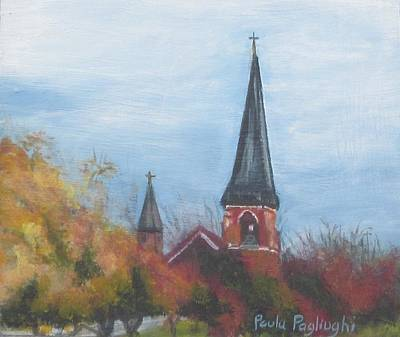 Painting - Church Steeple by Paula Pagliughi
