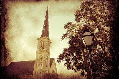 Photograph - Church Steeple Sepia by Alice Gipson