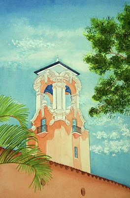 Wall Art - Painting - Church Steeple by Terry Arroyo Mulrooney