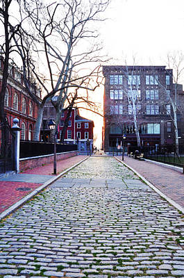 Church Street Cobblestones - Philadelphia Art Print by Bill Cannon