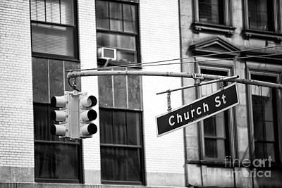 Photograph - Church Street Nyc by John Rizzuto