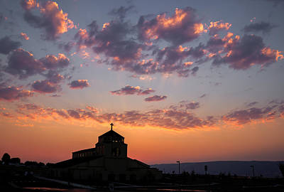 Lewiston Photograph - Church Sunset Silhouette by Brad Stinson