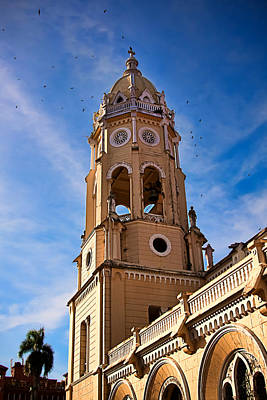 Photograph - Church Tower Casco Viejo, Panama City by Tatiana Travelways