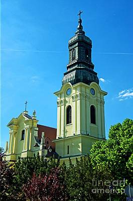 Photograph - Church Tower Poland by Elzbieta Fazel