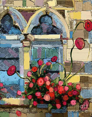 Church Window Art Print by Carrie Joy Byrnes