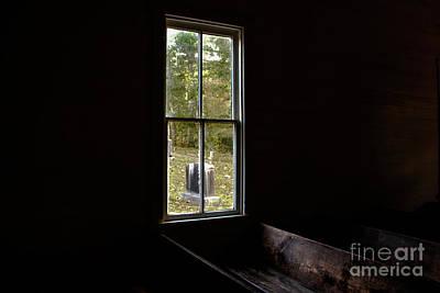 Photograph - Methodist Church Window At Cades Cove by John Greco