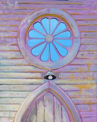 Mike Martin Painting - Church Window by Mike Martin