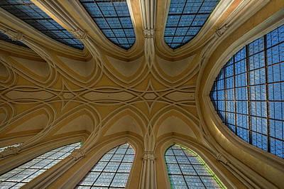 Photograph - Church Windows And Ceiling - Czechia by Stuart Litoff