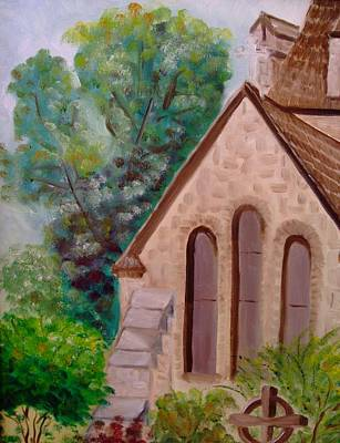 Painting - Church Windows by Calliope Thomas