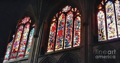 Photograph - Church Windows by D Hackett
