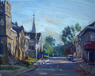 Canada Painting - Churche In Downtown Georgetown On by Ylli Haruni