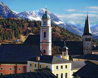 Photograph - Churches In Berchtesgaden by Anthony Dezenzio