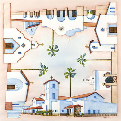 Painting - Churches Of Arizona by Sandra Neumann Wilderman