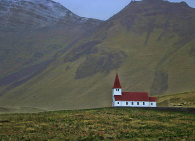 Photograph - Church Of Vik by Allen Beatty