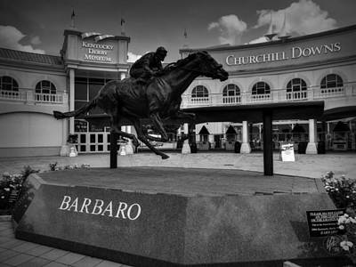 Photograph - Churchill Downs 001 Bw by Lance Vaughn