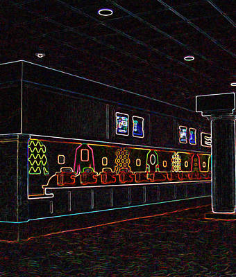 Racetrack Digital Art - Churchill Downs Gaming Windows In Glowing Edges by Marian Bell