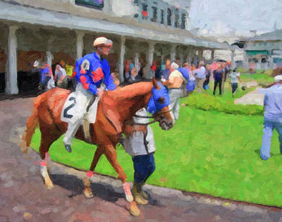 Digital Art - Churchill Downs by Jill Lang