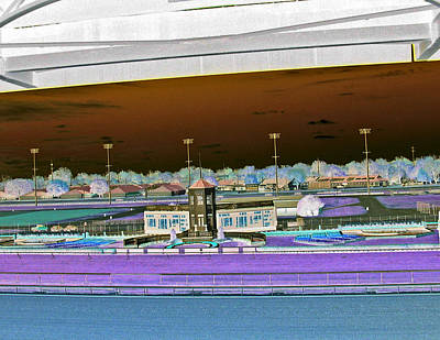 Racetrack Digital Art - Churchill Downs - The Winner's Circle - Color Invert by Marian Bell