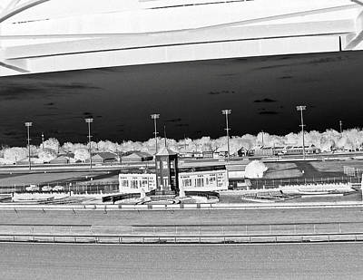 Racetrack Digital Art - Churchill Downs - The Winner's Circle In Black And White by Marian Bell