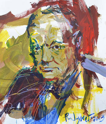 Churchill Art Print by Robert Joyner
