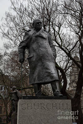 Westminster Photograph - Churchill by Nichola Denny