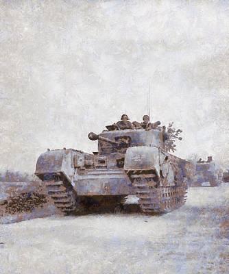 Churchill Painting - Churchill Tank by Esoterica Art Agency
