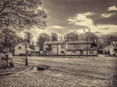Photograph - Churchtown Village In Sepia by Joan-Violet Stretch