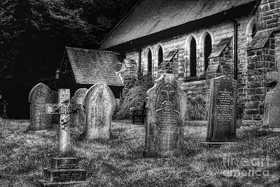 Photograph - Churchyard by Isabella F Abbie Shores FRSA