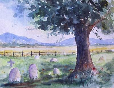 Churchyard Severn Stoke Art Print by Susan Ryder
