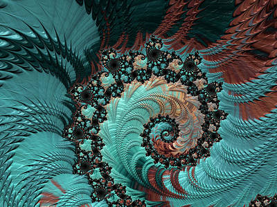 Digital Art - Churning Sea Fractal by Bonnie Bruno