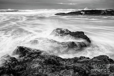 Strong America Photograph - Churning Waves by Masako Metz