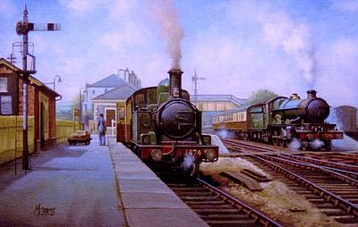 Painting - Churston Station 1956. by Mike Jeffries