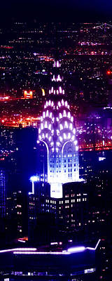 Chrysler Building Photograph - Chyrsler Lights by Az Jackson