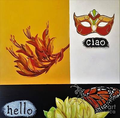 Painting - Ciao Means Hello by Tracey Lee Cassin