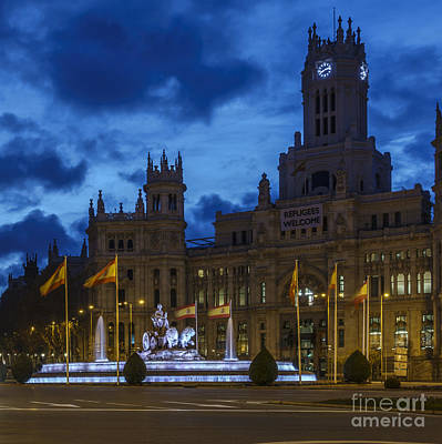 Photograph - Cibeles Fountain Madrid Spain by Pablo Avanzini