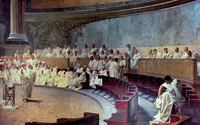 Senate Painting - Cicero by Cesare Maccari