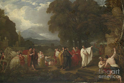 Cicero Discovering The Tomb Of Archimedes Art Print by Benjamin West