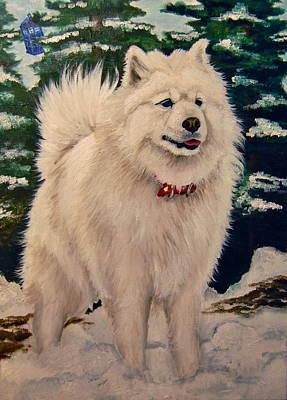 Tardis Painting - Cici The Dog by Emily Jones