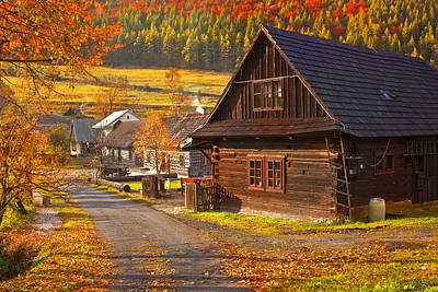 Cicmany -old Village  In Slovakia Print by Renata Vogl
