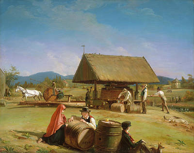 Painting - Cider Making                                  by William Sidney Mount