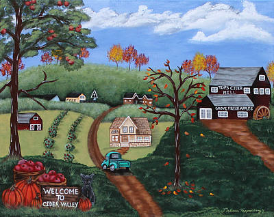 Cider Mill Painting - Cider Valley by Melissa Toppenberg