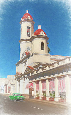 Church Photograph - Cienfuegos Cuba Cathedral by Joan Carroll