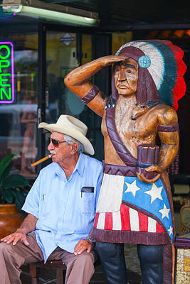 Photograph - Cigar Indian by Dart and Suze Humeston