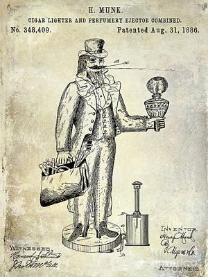 1800 Photograph - Cigar Lighter Patent 1886  by Jon Neidert