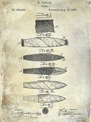1800 Photograph - Cigar Patent 1887  by Jon Neidert