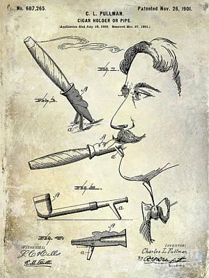 Cigar Patent 1901 Art Print by Jon Neidert